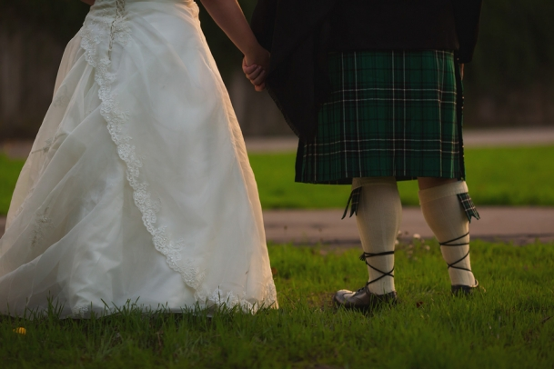 Real Plus Size Wedding Purple And Green Celtic Winery