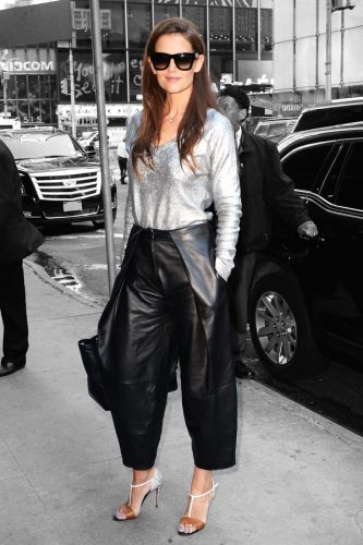 Katie Holmes Makes Us Want to Wear Leather Pants ASAP (Yes ...