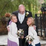 Fall garden wedding with a brunch reception