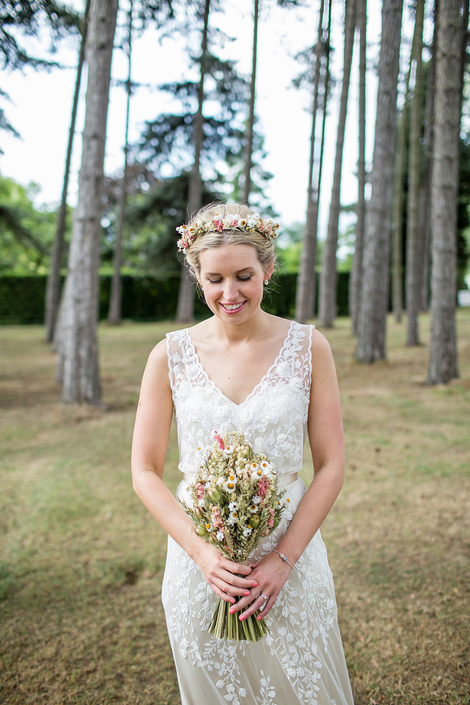 A Rustic Barn Wedding With a Bride in Catherine Deane and a Dried ...