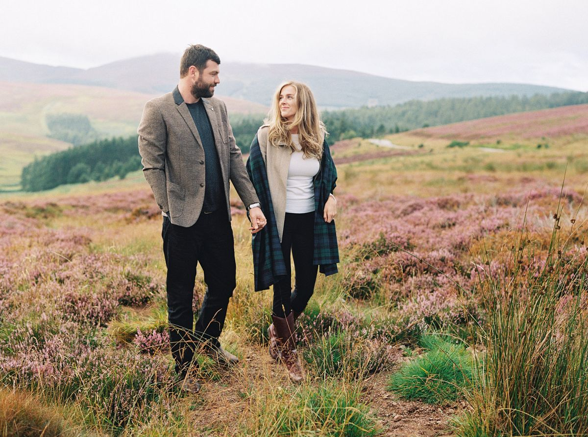 Katie and Mark's Scottish Heather Engagement
