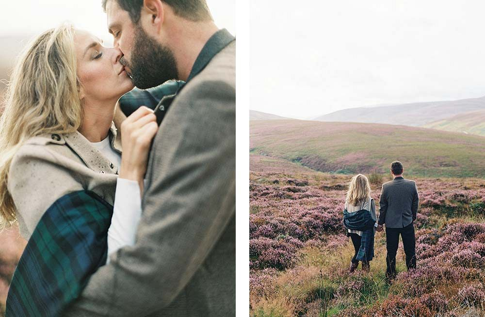 Katie and Mark's Scottish Engagement Session by Laura Gordon Photography | Wedding Sparrow