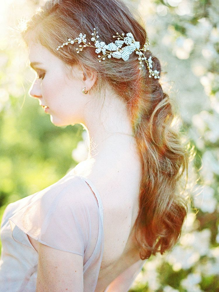 Ethereal Spring Blossoms and a Blush Bride