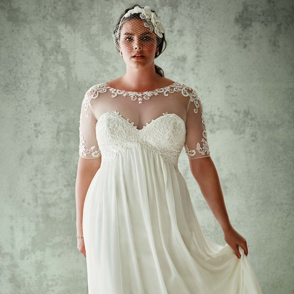 The best place to snag a gorgeous plus size wedding for What is my wedding dress size