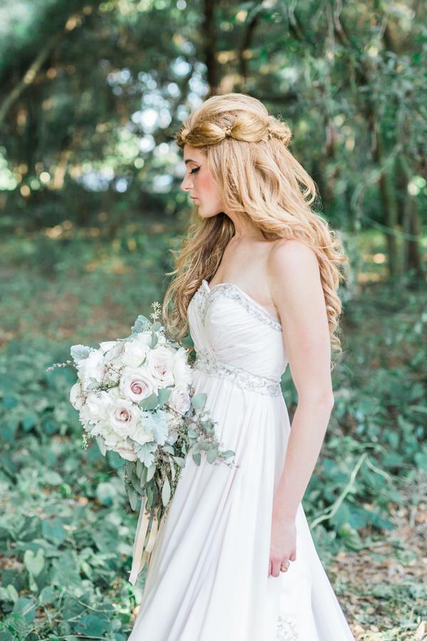 Blush woodland fairy inspiration shoot plus size wedding for Woodland fairy wedding dress