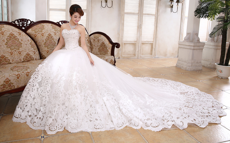 Wedding Dresses With Long Trains for Fashionable Bride | Plus Size ...
