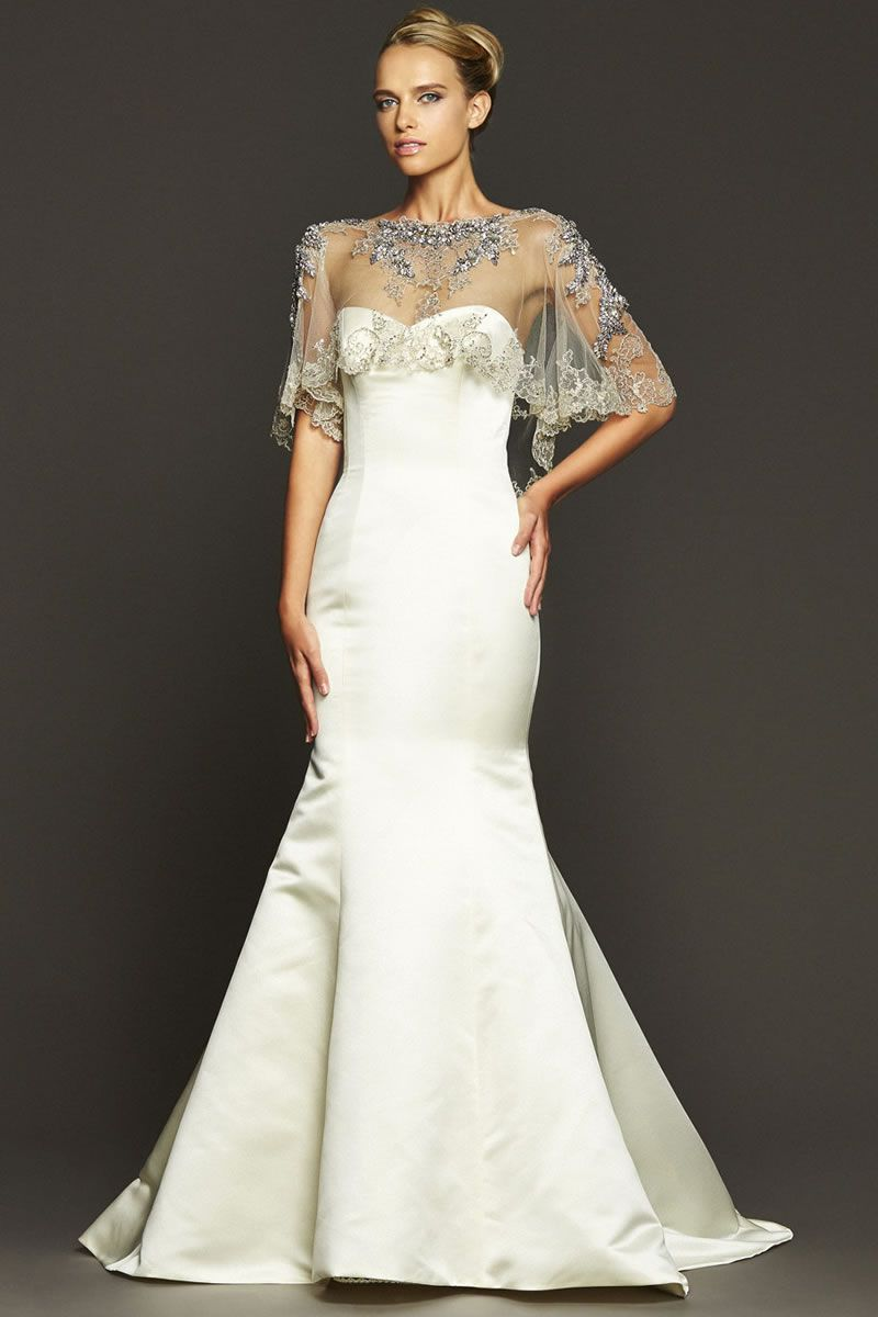 best contemporary wedding dresses Badgey Mischka Bacall Fro copy - Modern Wedding Outfits