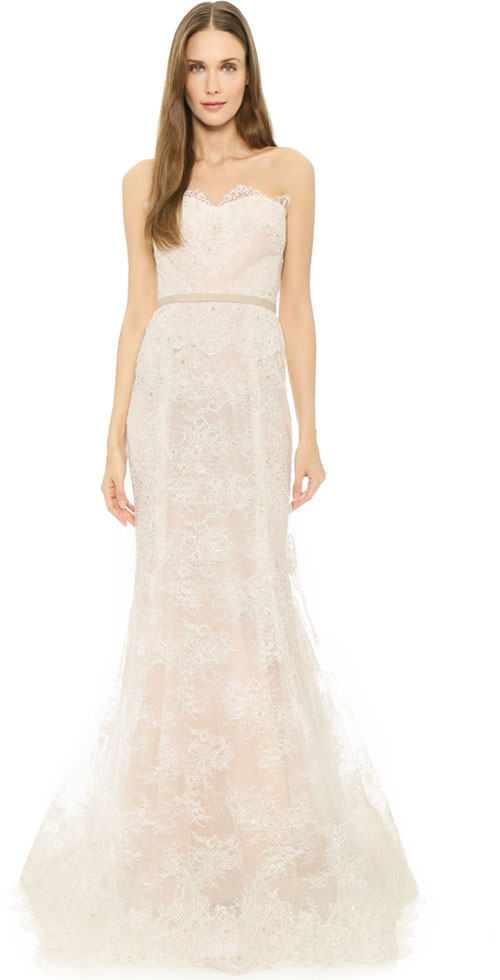 Top10 chic lace wedding dresses 08