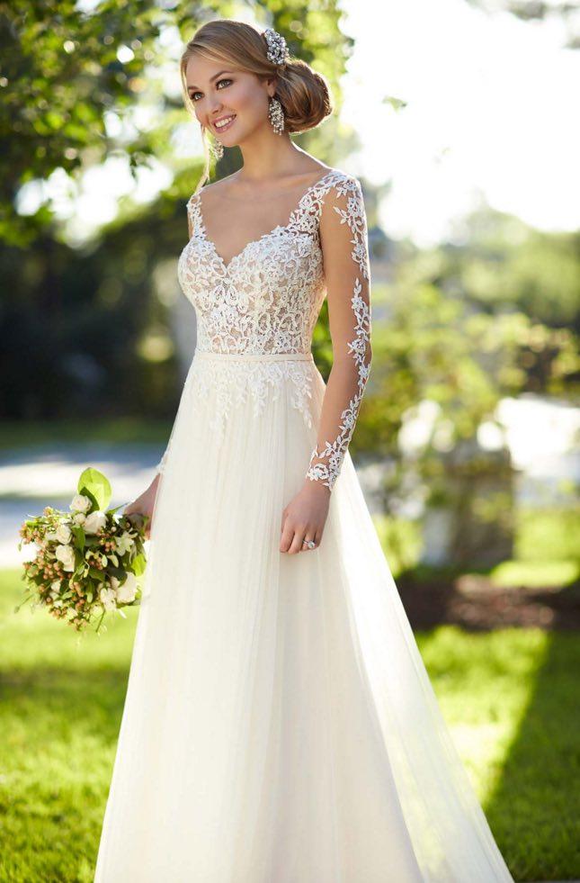 Stella York A-neckline wedding dresses 01