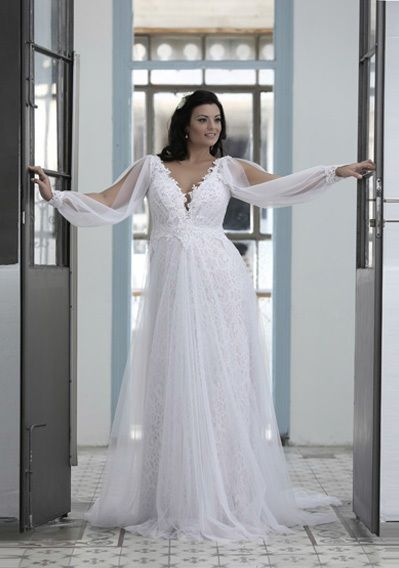 Top5 sexy plus size wedding dresses 03