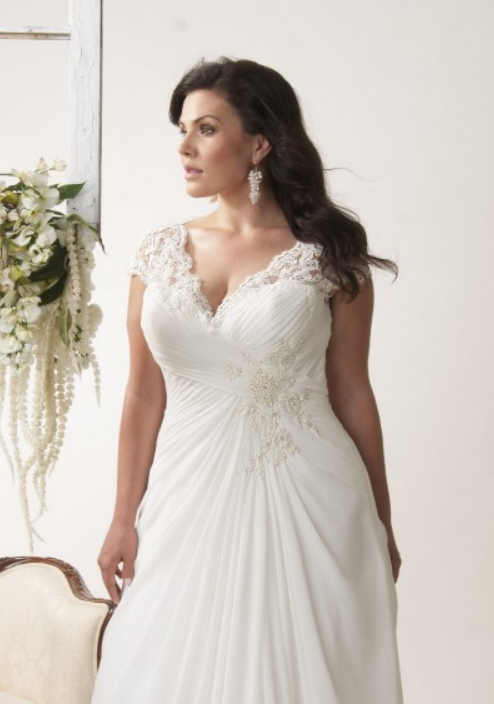 Vancouver lace plus size wedding dresses