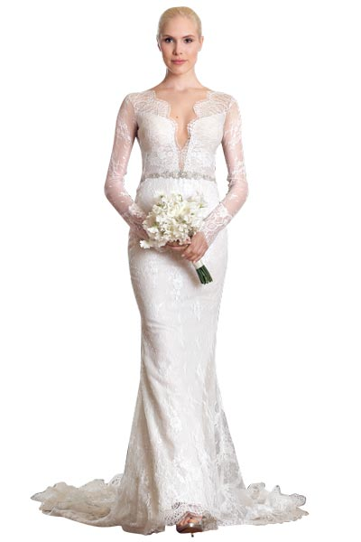 Top10 chic lace wedding dresses 09