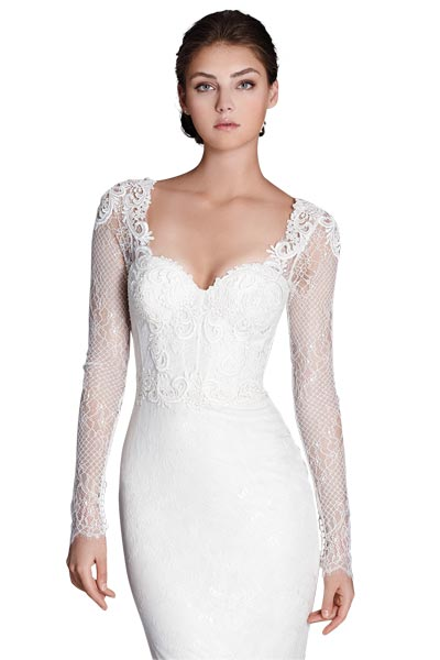 Top10 chic lace wedding dresses 10