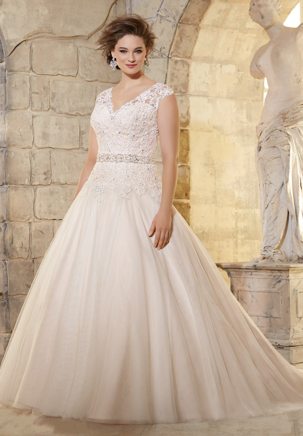 The elegant wedding dresses in plus size plus size for Wedding dress plus size