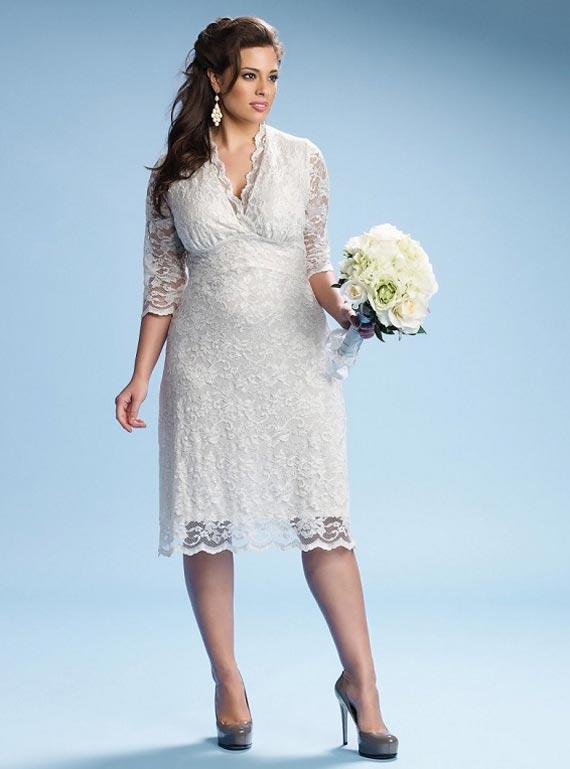 Plus size wedding dresses for curvy girl 02