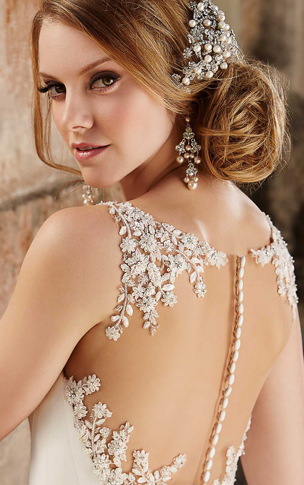 Beautiful hairstyle for elegant bride 06