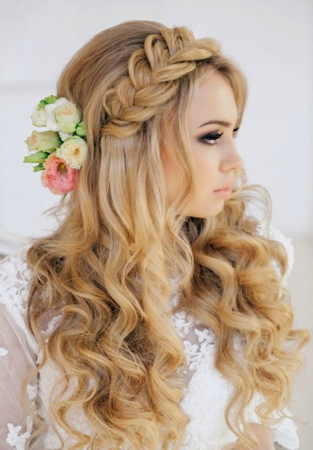 Beautiful hairstyle for elegant bride 03