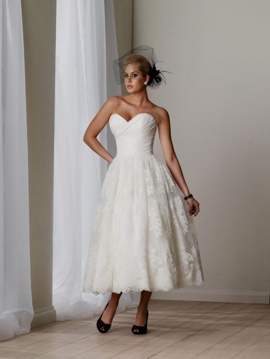 Top10 beautiful short plus size wedding dresses 03
