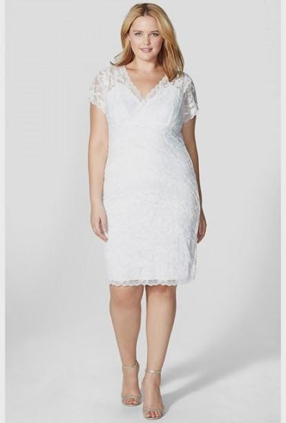 Top10 beautiful short plus size wedding dresses 02