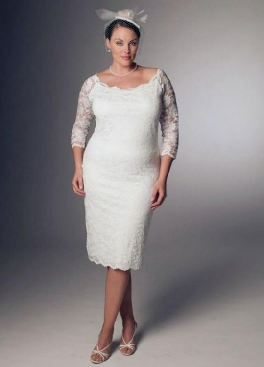 Top10 beautiful short plus size wedding dresses 07