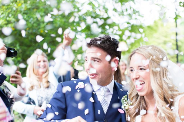 Confetti Throw Bride Groom Soft Pink Rustic Boho Wedding http://www.natashacadman.com/
