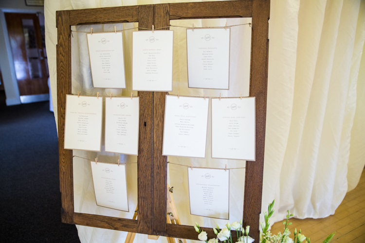 Wooden Window Seating Table Plan Chart Soft Pink Rustic Boho Wedding http://www.natashacadman.com/
