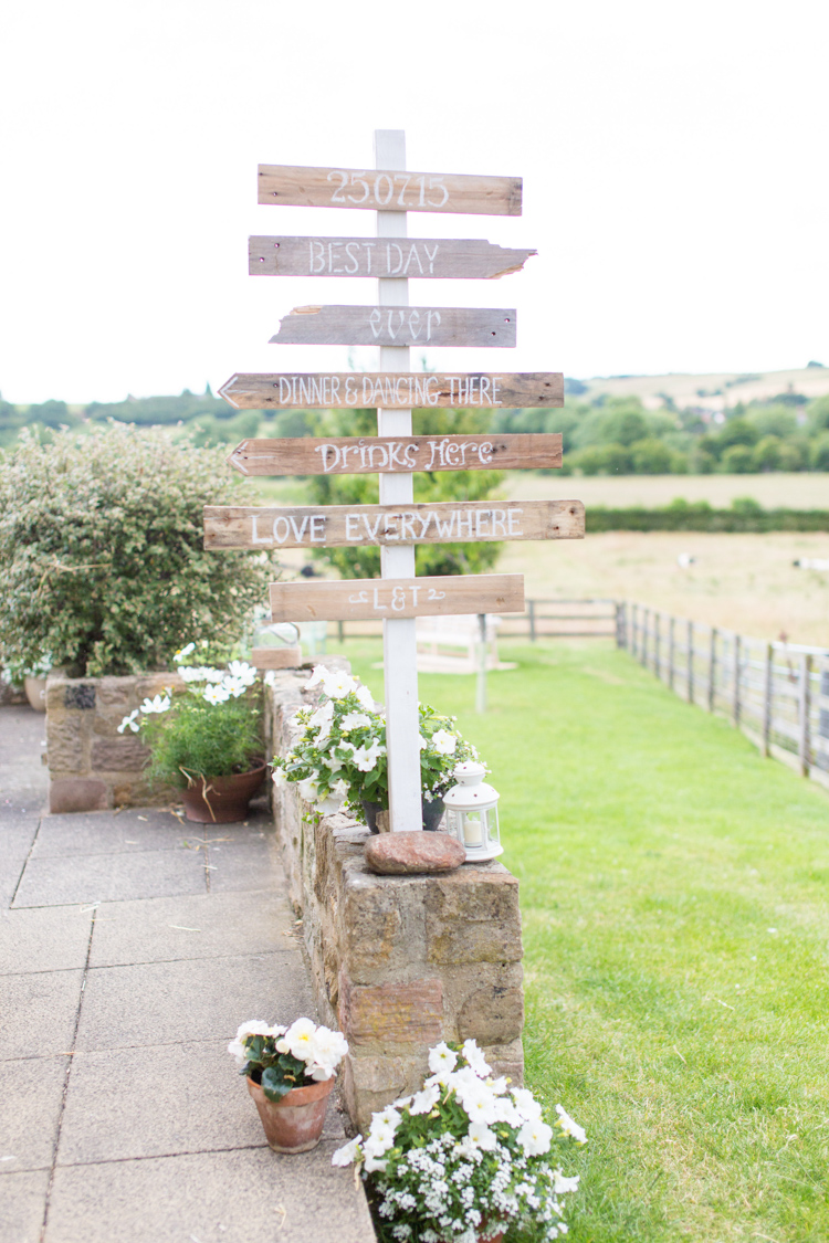 Wooden Sign Post Soft Pink Rustic Boho Wedding http://www.natashacadman.com/