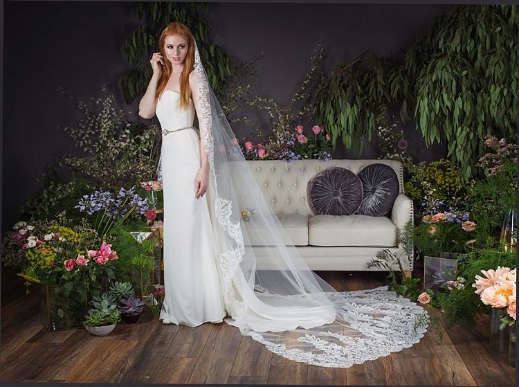 Esme with Marlene Belt & Full Lace Veil Naomi Neoh 2017 Eden Wedding Bridal Dress Collection