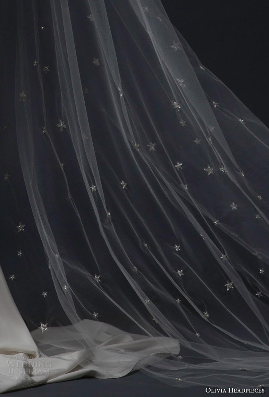 olivia headpieces fall 2016 veils star semi embroidered chapel veil (stargaze) zv