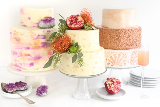 Three Easy and Trendy Ways to DIY a Wedding Cake