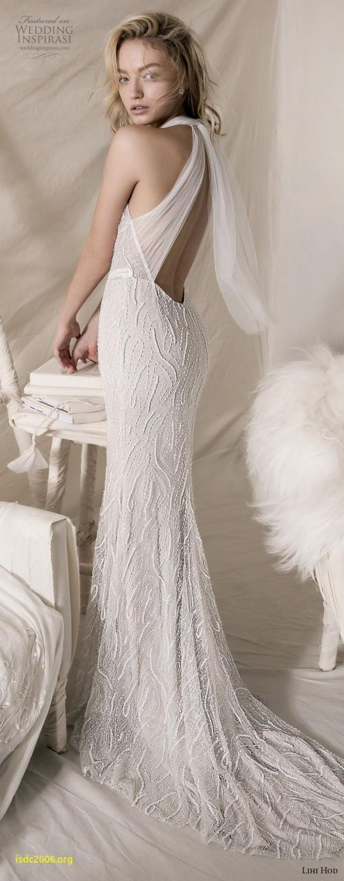 lihi hod 2018 bridal sleeveless halter jewel neck full embellishment elegant sheath wedding dress keyhole back