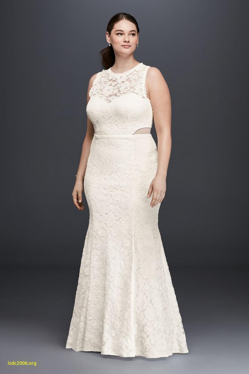 Lace Trumpet Plus Size Wedding Dress with Illusion Ivory