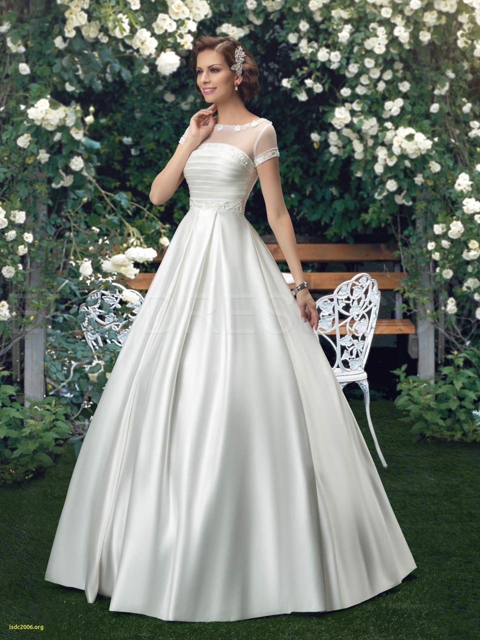 Discount Nwd29 2017 Fashionable Bride Short Sleeve See Through Satin Wedding Dress Church Plus Size Custom Made Bridal Gown Dresses Wedding Dresses