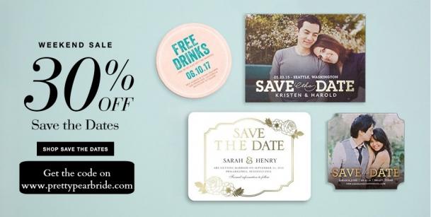 save the dates, wedding stationery
