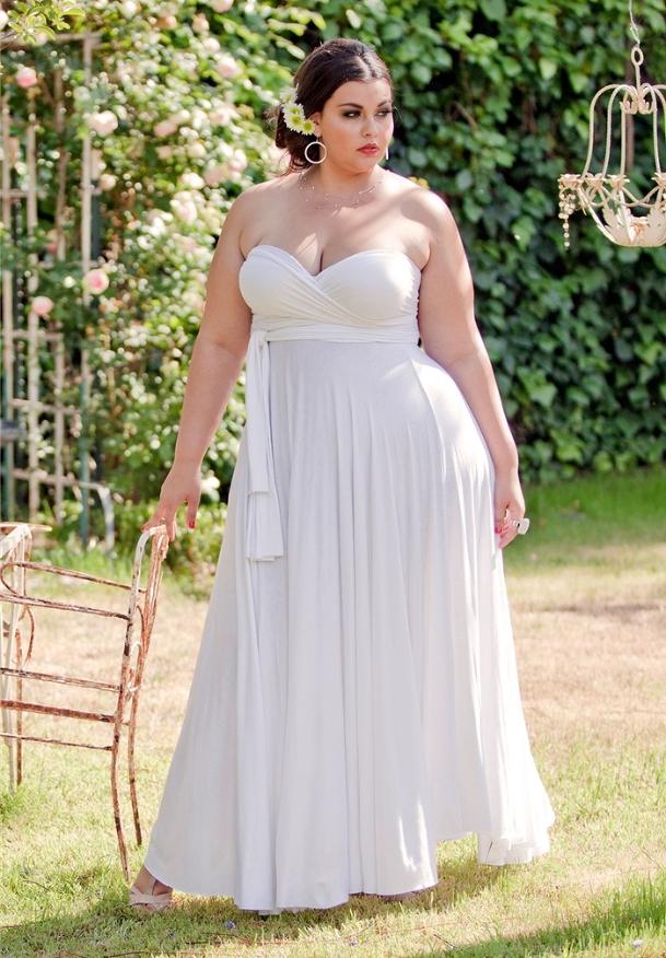plus size wedding gown, summer wedding gown