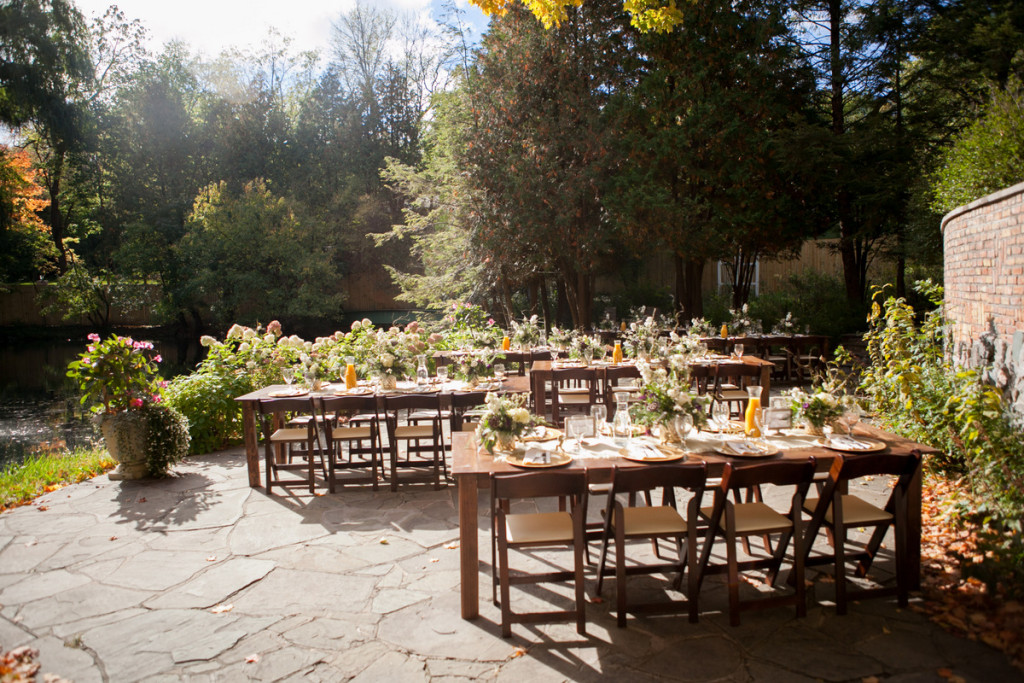 Fall garden wedding with a brunch reception