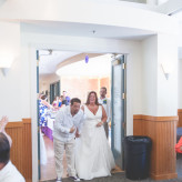 Purple and Blue River wedding in Kentucky featuring a gorgeous plus size bride
