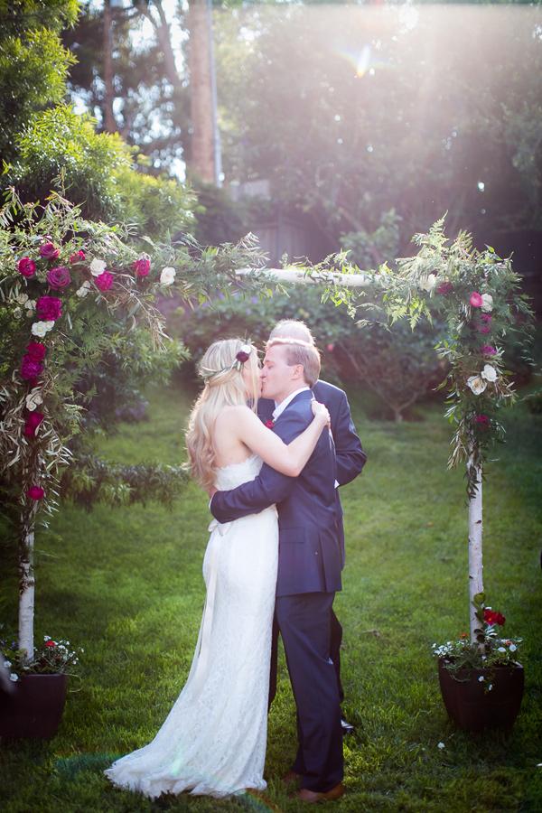 Intimate Backyard Wedding in Malibu