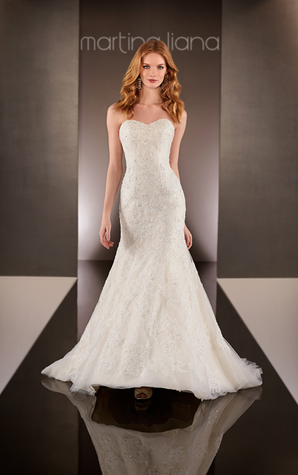 Martina Liana strapless wedding dress