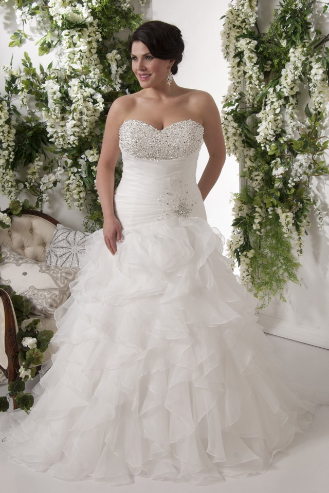 Softly plus size wedding dress perfect for you