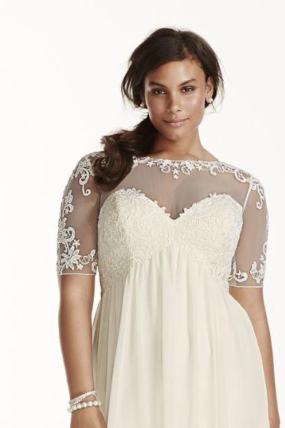 Plus Sexy Neckline Wedding Dress