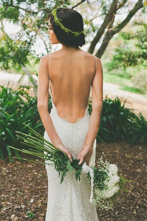 Low Back Wedding Dress Is Extremely Sexy