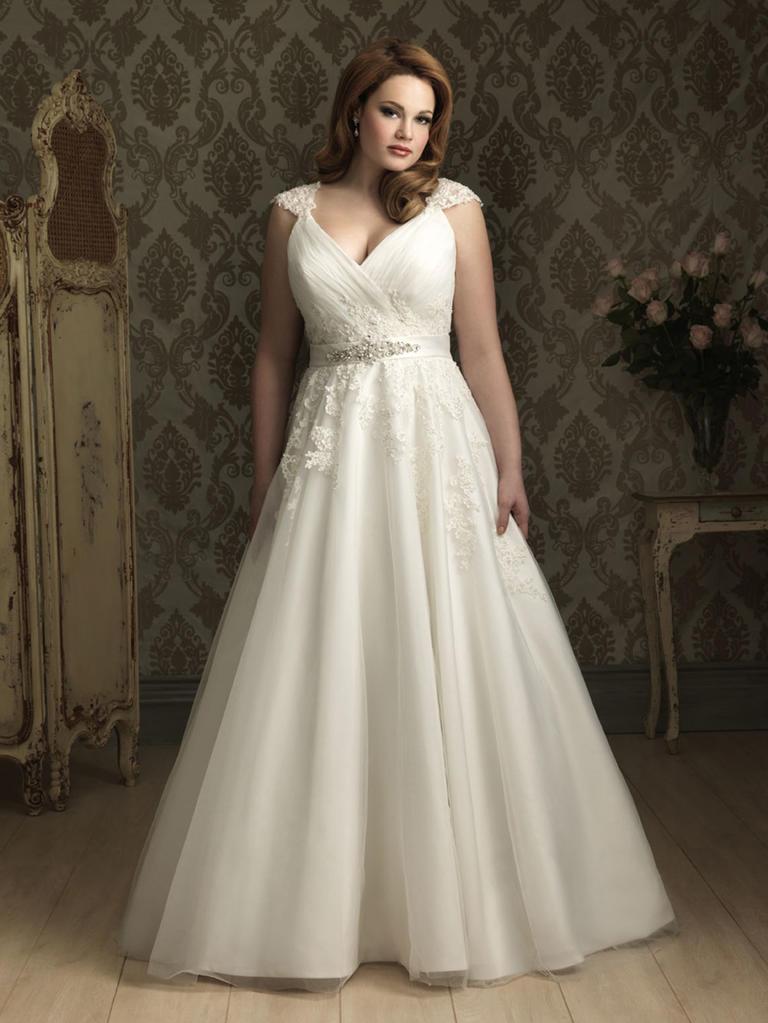 8 fashion style plus size wedding dresses for curve girls 04