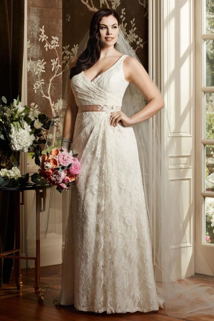 8 fashion style plus size wedding dresses for curve girls 02
