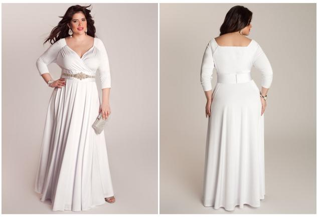 Plus size wedding dresses for curvy girls 02
