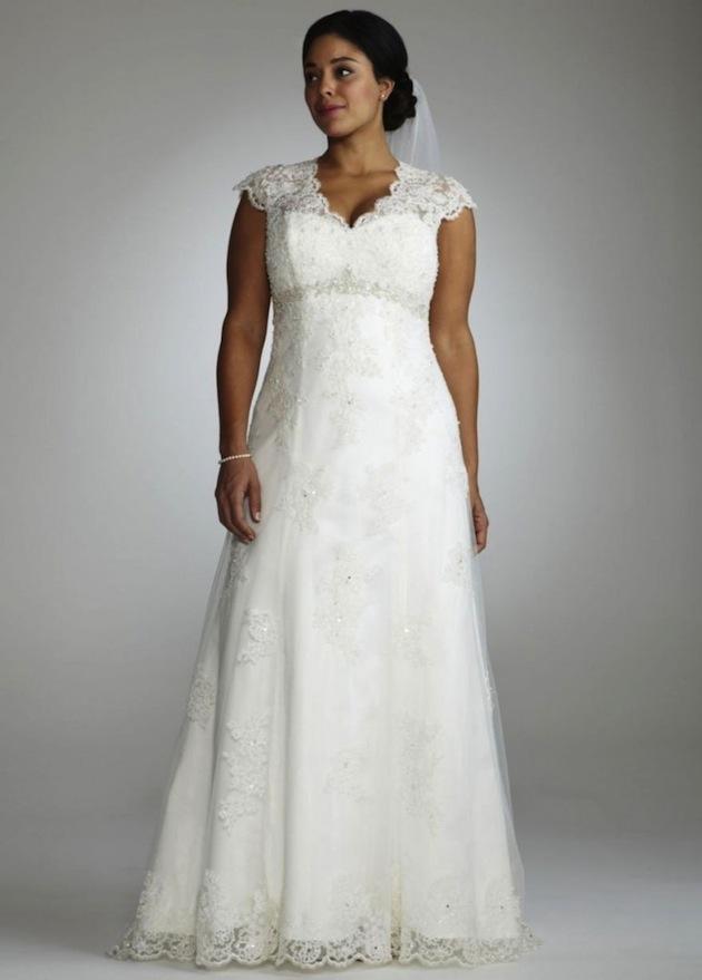 Plus size wedding dresses for curvy girls 05
