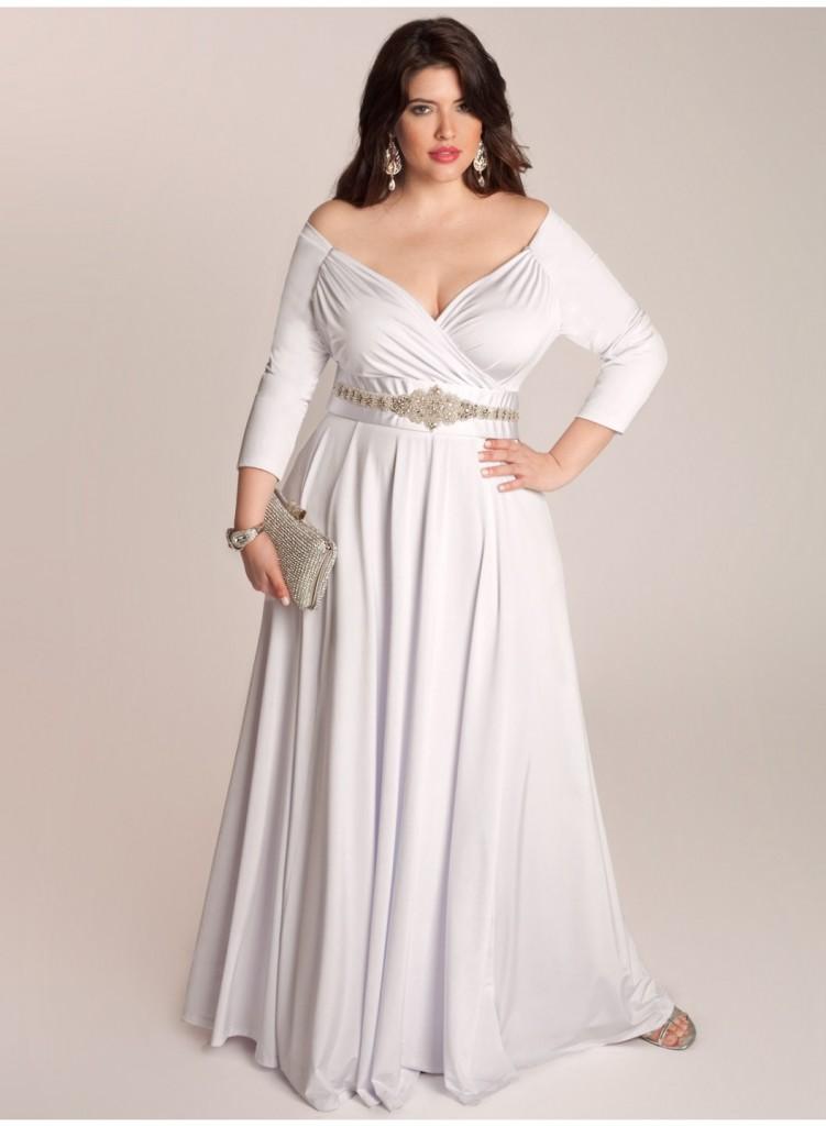 Plus size wedding dresses for curvy girls 03