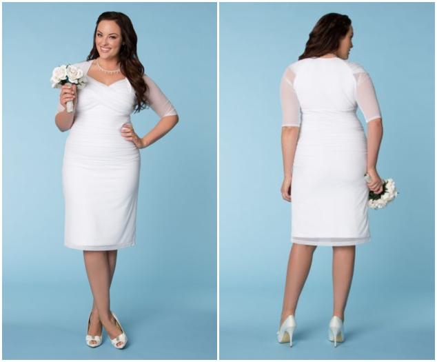 Plus size wedding dresses for curvy girls 04