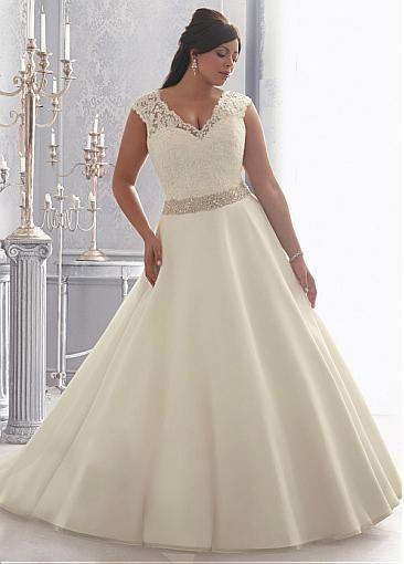 Top5 sexy plus size wedding dresses 04