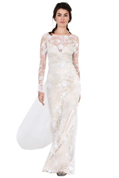 Top10 chic lace wedding dresses 04